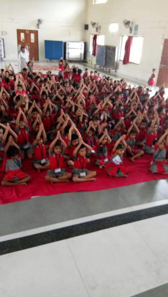Yoga Day (pre primary section)
